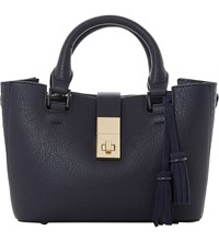 Dune Divinie Tassel Detail Leather Tote Navy Plain Synthetic