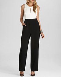 Bcbgeneration Jumpsuit Two Tone Wide Leg Whisper White Combo