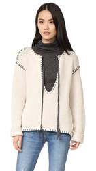 One Teaspoon Bear Creek Knit Sweater Cream Charcoal