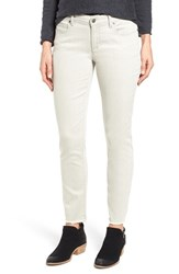 Eileen Fisher Women's Stretch Organic Cotton Frayed Ankle Jeans Cement