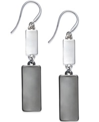 Alfani Two Tone Rectangle Double Drop Earrings Only At Macy's