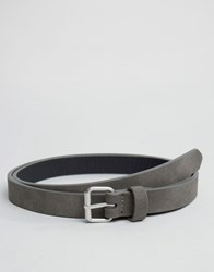 Asos Super Skinny Belt In Gray Faux Leather Gray