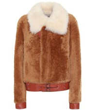 Coach Shearling Jacket Brown