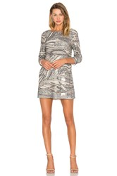X By Nbd Anay Dress Metallic Silver