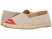 Charlotte Olympia Kiss Me Espadrilles Grey Canvas Women's Shoes Gray