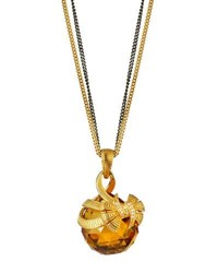 Stephen Webster Forget Me Knot Long Topaz Bow Pendant Necklace Silver