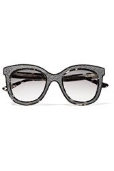 Bottega Veneta D Frame Acetate Sunglasses Gray