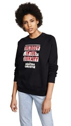Olympia Le Tan The Body In The Library Embroidered Sweatshirt Black