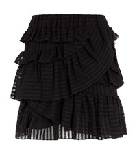 Iro Glowie Ruffle Hem Skirt Female Black