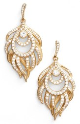 Kendra Scott Women's Emelia Drop Earrings White Cz Gold