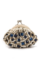 Santi Jewel Clutch Navy