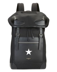 Givenchy Men's Canvas And Leather Star Backpack Black