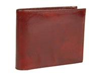 Bosca Old Leather Collection Continental Id Wallet Cognac Leather Bi Fold Wallet Brown