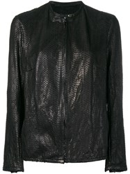 Salvatore Santoro Snakeskin Effect Jacket Black