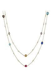 Alainn Mixed Extra Long Station Necklace Gold Multi