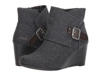 Blowfish Baldwin Grey Two Tone Flannel Pull On Boots Gray