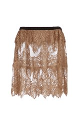 Burberry Chantilly Lace Scalloped Kilt Gold
