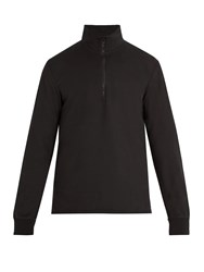 Barena Half Zip Cotton Sweatshirt Black
