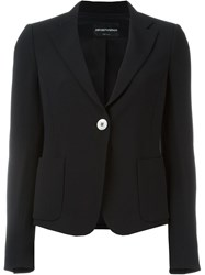 Emporio Armani Fitted Blazer Black
