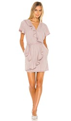 Yfb Clothing Monika Dress In Purple. Pale Mauve