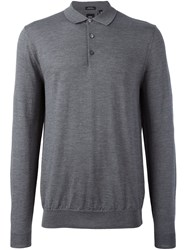 Hugo Boss 'T Bertone' Polo Shirt Grey