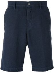 Massimo Alba 'Vela' Shorts Men Cotton Linen Flax 54 Blue