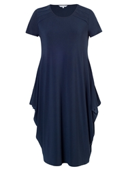 Chesca Tuck Trim Jersey Dress Navy