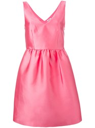 P.A.R.O.S.H. V Neck Sleeveless Dress Pink Purple