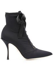 Dolce And Gabbana Woman Stretch Boots Black