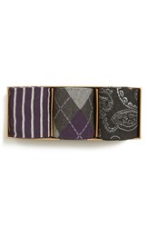 Men's The Tie Bar Purple Sock Style Box