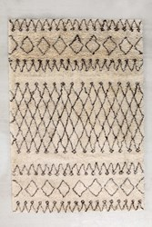 Urban Outfitters Casablanca Moroccan Tufted Rug Ivory