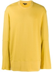 Ann Demeulemeester Boxy Fit Sweatshirt Yellow