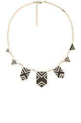 House Of Harlow Classic Caged Station Necklace Metallic Gold