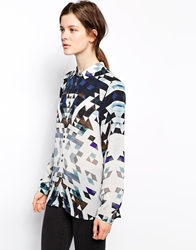 2Nd Day Graphic Printed Shirt Blue
