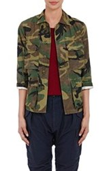 Nlst Women's Camouflage Print Field Jacket Green