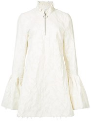 Marques Almeida Marques'almeida Flared Sleeves Fitted Dres Women Cotton Polyamide Polyester S White