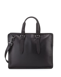 John Varvatos Hallowell Leather Briefcase Black