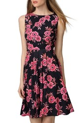 Donna Morgan Women's Floral Jersey Fit And Flare Dress