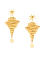 Paula Mendoza Ego I Earrings Metallic