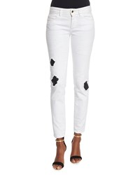 Just Cavalli Ripped Repaired Skinny Jeans White