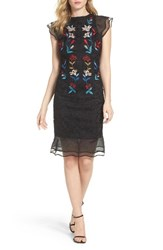 Sachin Babi Women's And Noir Dream Embroidered Trumpet Dress