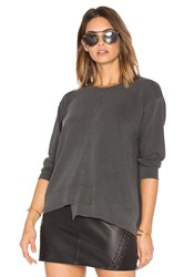 Wilt Shrunken Shifted Sweatshirt Charcoal