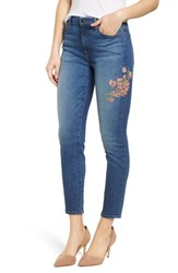 Jen7 'S Embroidered Ankle Skinny Jeans Garden City