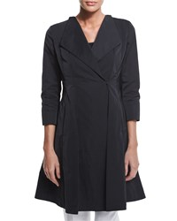 Lafayette 148 New York Judith Fit And Flare Topper Coat Black