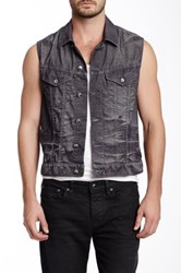 Stitch's Jeans Faded Denim Vest Gray