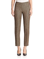 Michael Kors Houndstooth Jacquard Pants Black Fawn
