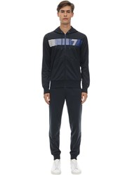 Emporio Armani Train 7 Acetate Sweatshirt And Sweatpants Blue
