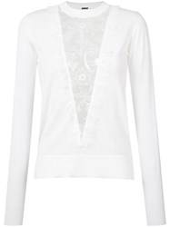 Adam By Adam Lippes Lace Panel Jumper White