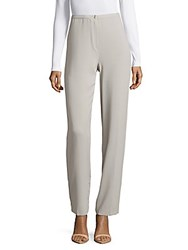 Basler Textured Flat Front Pants Silver