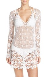 Women's J Valdi Crochet Cover Up Tunic